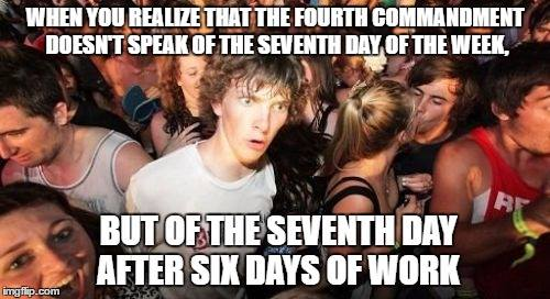 The seventh day not of the week, but of a cycle