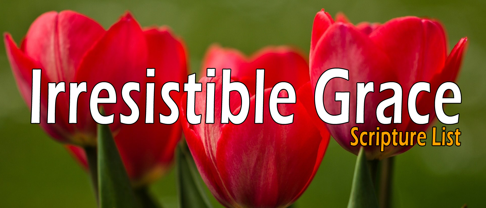 Irresistible Grace,  Effectual Calling - Scripture List